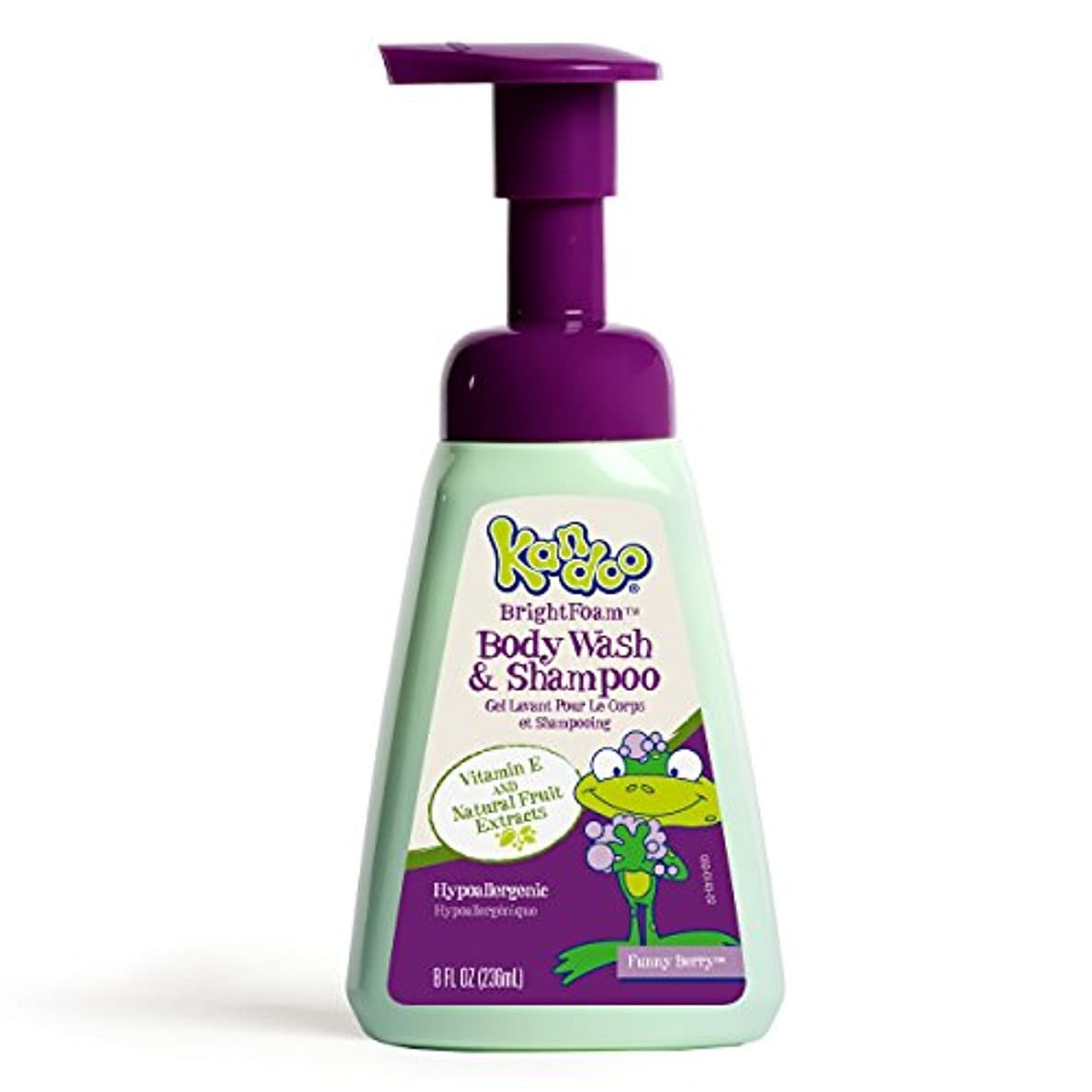 どんなときもリマ予想するKandoo BrightFoam Body Wash, Funny Berry Scent, 8.4 Fluid Ounce by Kandoo