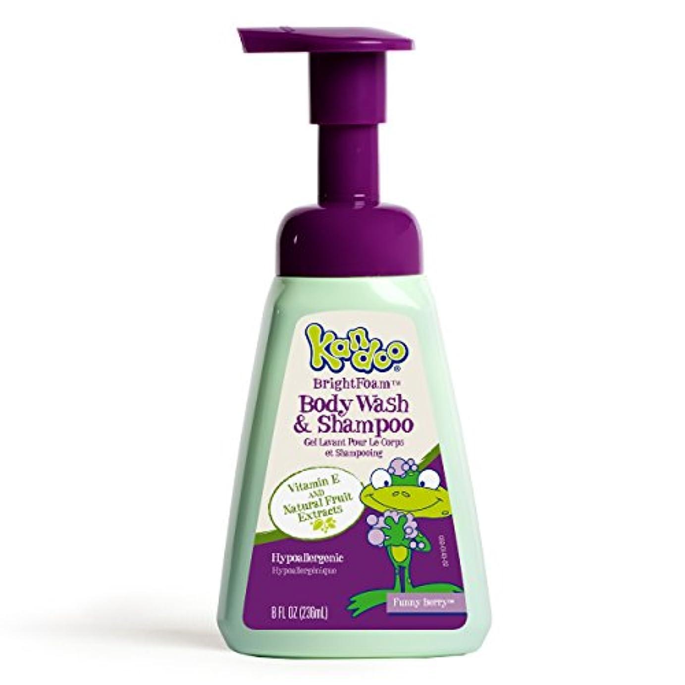 寄付抜本的な計画Kandoo BrightFoam Body Wash, Funny Berry Scent, 8.4 Fluid Ounce by Kandoo