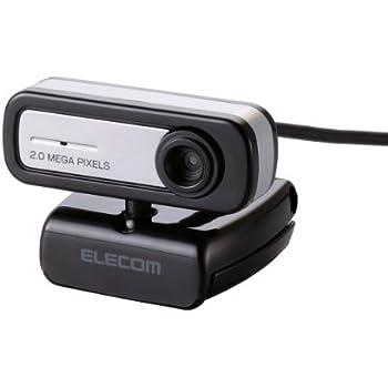 【2012年モデル】ELECOM WEBカメラ 200万画素 1/5インチCMOSセンサ マイク内蔵 コンパクトタイプ ブラック UCAM-C0220FBBK