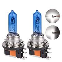 1ピースH15 12ボルト55ワット車のヘッドライトハロゲンランプ車の光源電球スーパーホワイト6000 kヘッドランプ交換用ランプライト