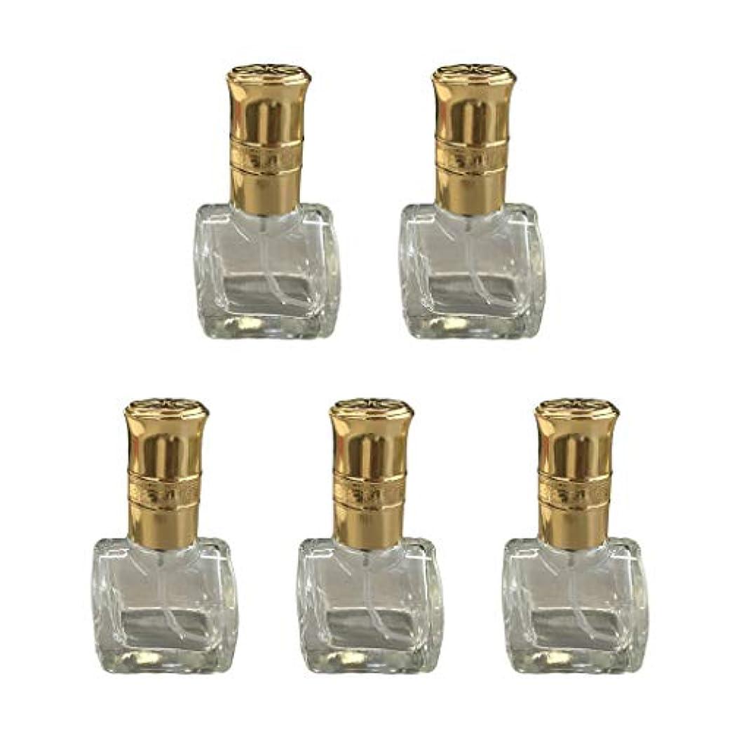 ドアシリアル特異な5個 ガラス ボトル 空ボトル 詰替え オイル 香水 アトマイザー スプレーボトル