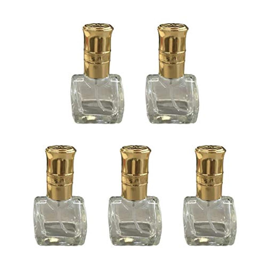 対称自信がある広げる5個 ガラス ボトル 空ボトル 詰替え オイル 香水 アトマイザー スプレーボトル