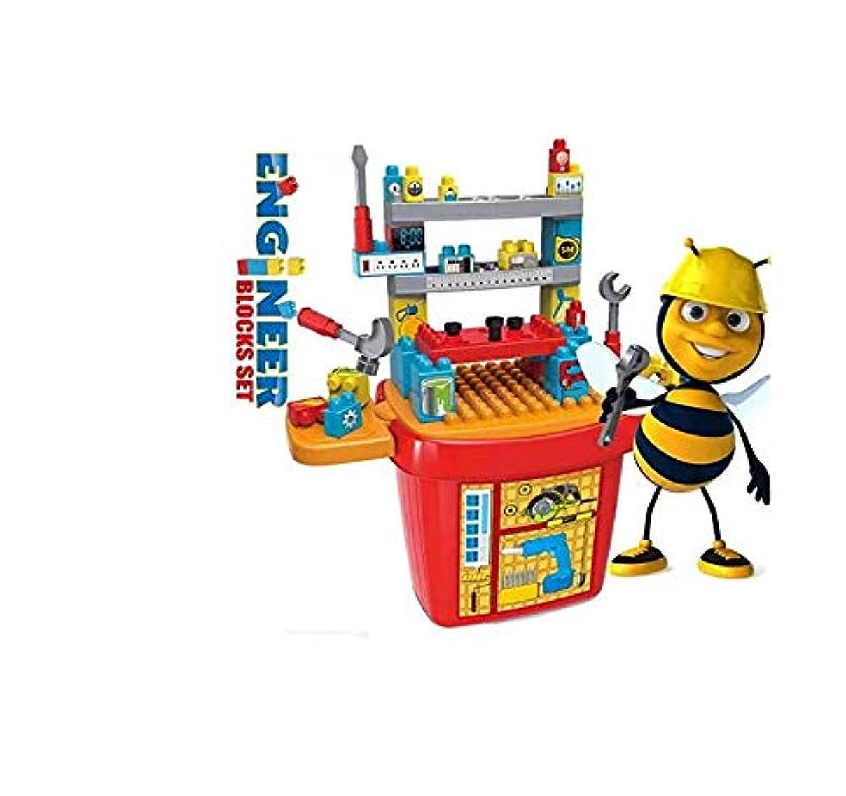 シュート緩める底大工さんセット カーペンターテーブル  幼児 キッズ 組み立て 知育 おもちゃ ワークセンター 子どもの誕生日プレゼント クリスマスプレゼント