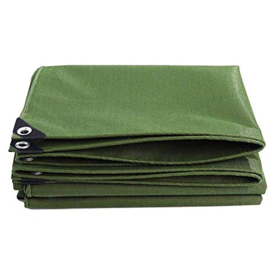 調整する終わらせるだますZX タープ 防水シート屋外のバックパッキングハイキングレインプルーフ防塵防風サンシェードトラックカバー厚いキャンバス テント アウトドア (Color : Green, Size : 5x6m)