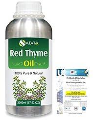 Red Thyme (Thymus Vulgaris) 100% Pure Natural Oil 2000ml/67 fl.oz.