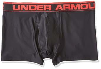 UA Original Boxerjock 3inch Shorts - Black/Red XLarge