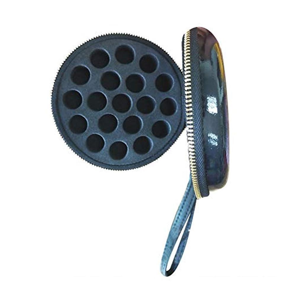 予防接種破壊的可聴Pursue エッセンシャルオイル収納ケース アロマオイル収納ボックス アロマポーチ収納ケース 耐震 携帯便利 香水収納ポーチ 化粧ポーチ 19本用