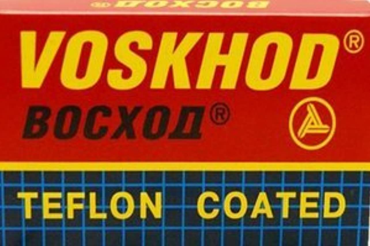 船上無秩序明るくするVoskhod Teflon Coated 両刃替刃 5枚入り(5枚入り1 個セット)【並行輸入品】