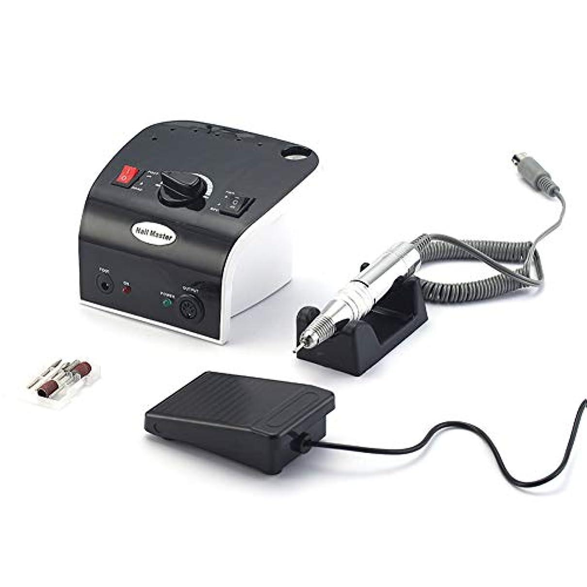 クランプ囲まれたアルコーブ電気ネイルドリルマシン35W 35000RPM高品質モデルハンドピースマニキュアペディキュアマシンネイルファイルビットネイルアート機器
