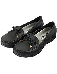 (クルーズライン)CRUISE LINE 晴雨兼用 リボン モカシン デッキシューズ フラットシューズ 雨靴 レインシューズ 防水 撥水 A99