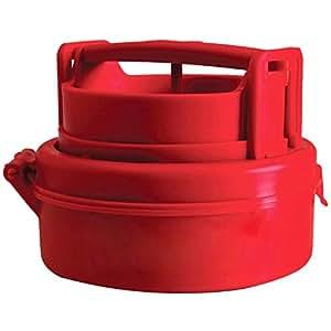 SODIAL (R)詰物ハンバーガー バーガー プレス鋳型 プラスチック製 新しくてコンパクトなキッチンツール 赤