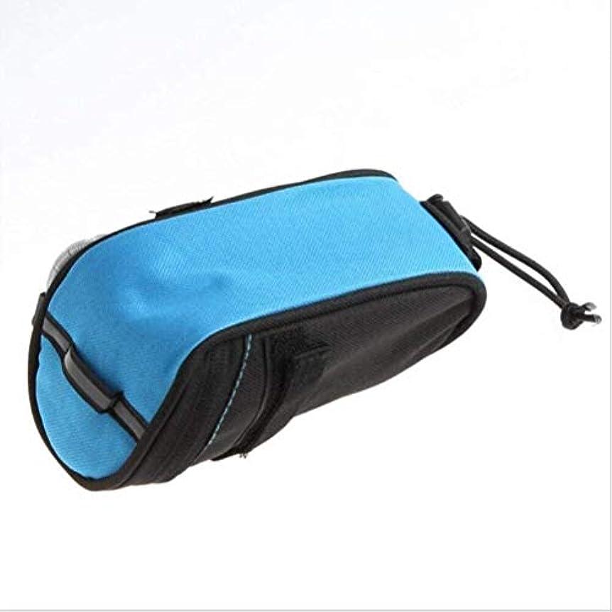 白菜盆地薄いスポーツ用品自転車ハンドルバーバッグウィンドウホルダーパーソナルアクセサリースリングバッグ、アウトドアスポーツ愛好家のための耐水性 (色 : Blue Black)