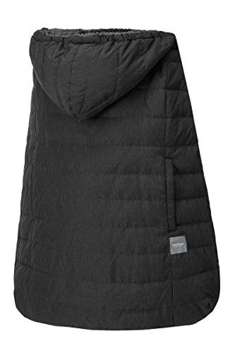 ベビーホッパー(BABYHOPPER) ダウン90% 抱っこひも 防寒 カバー エルゴ ウインターマルチプルダウンカバー/ブラック ベビーカーでも使える CKBH04014