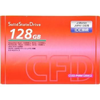 シー・エフ・デー販売 DRAM搭載のIDE接続SSD 旧型PCのパワーアップに効果絶大 128GB CSSD-PMM128WJ2