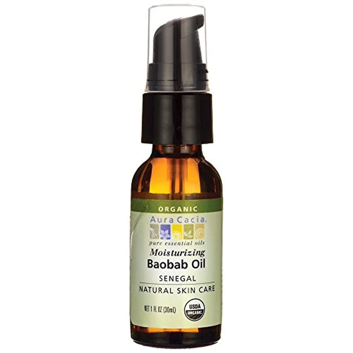 保育園もし時計[海外直送品] Aura Cacia オーガニック バオバブ オイル 30ml Organic Baobab Oil 1 fl oz [ヘルスケア&ケア用品]