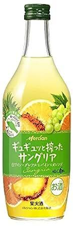 ギュギュッと搾ったサングリア 白ワイン× グレフル&パイン&オレンジ [ 白ワイン 甘口 日本 500ml ]
