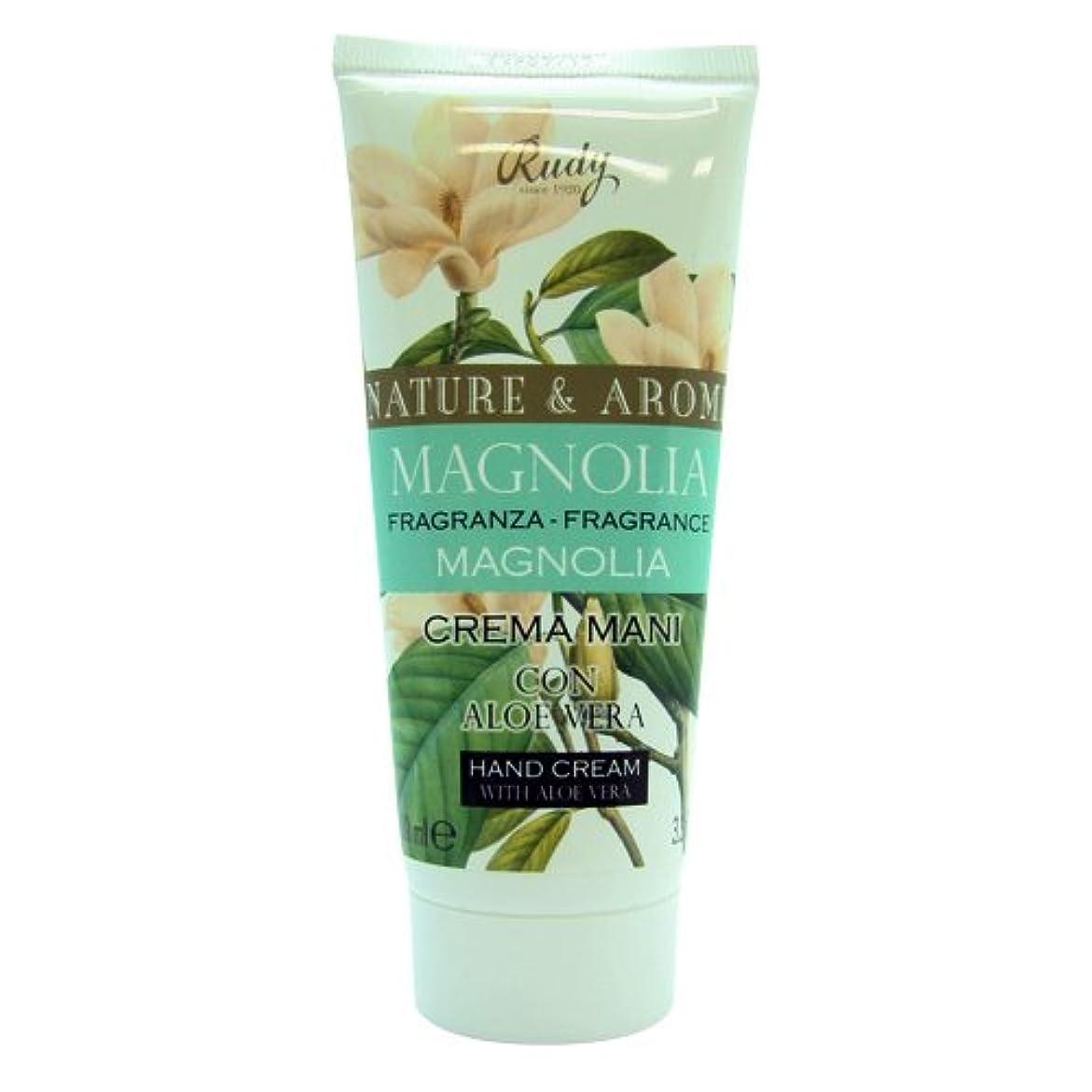 作物検出可能ハンバーガーRUDY Nature&Arome SERIES ルディ ナチュール&アロマ Hand Cream ハンドクリーム  Magnolia マグノリア