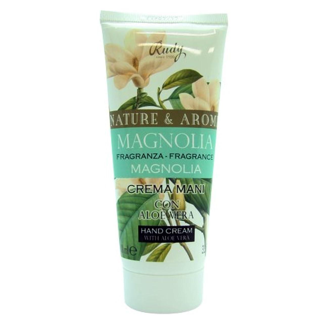 補償取り出すプーノRUDY Nature&Arome SERIES ルディ ナチュール&アロマ Hand Cream ハンドクリーム  Magnolia マグノリア