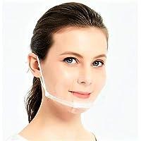 【BIO】マウスシールド クリスターマスク 10枚セット ホワイトフレーム 飛沫防止 男女兼用 フリーサイズ 笑顔が見え…
