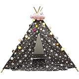 キッズテント ゲームのテントのおもちゃの家の城 屋内子供のテントのポップアップの城 家のテントのゲームの家の男の子および女の子の城は子供のためのカーペット、マット ギフトを送ります キッズテント (Color : Blue, Size : 120*120*160cm)