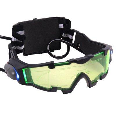 軍用モデル暗視ゴーグル 保護ゴーグル メガネ コスプレ、粉塵防止、安全衛生、医療、くもり止め、花粉対策 LEDライト付
