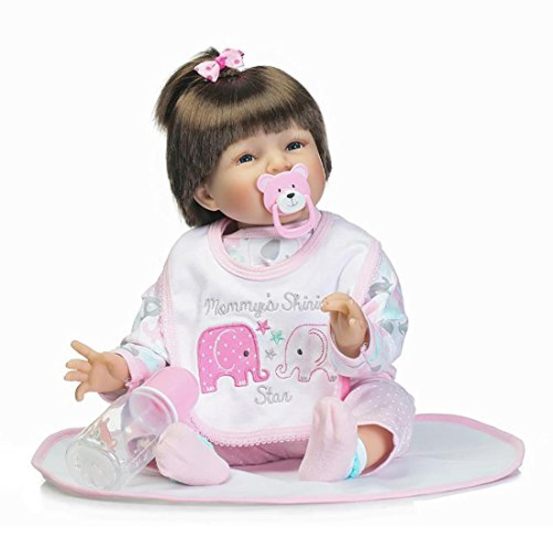 NPKCOLLECTION 人形 Babyリボーンベビードールソフトシリコンビニール22インチの55センチメートル磁気口リアルな少年少女のおもちゃピンクホワイトアイズ睁開 Reborn Dolls JP