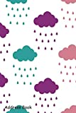 Address Book: For Contacts, Addresses, Phone, Email, Note,Emergency Contacts,Alphabetical Index With Clouds Seamless Pattern