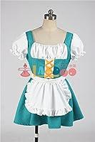 すーぱーぽちゃ子 水色 メイド服コスプレ衣装 コスチューム cosplay