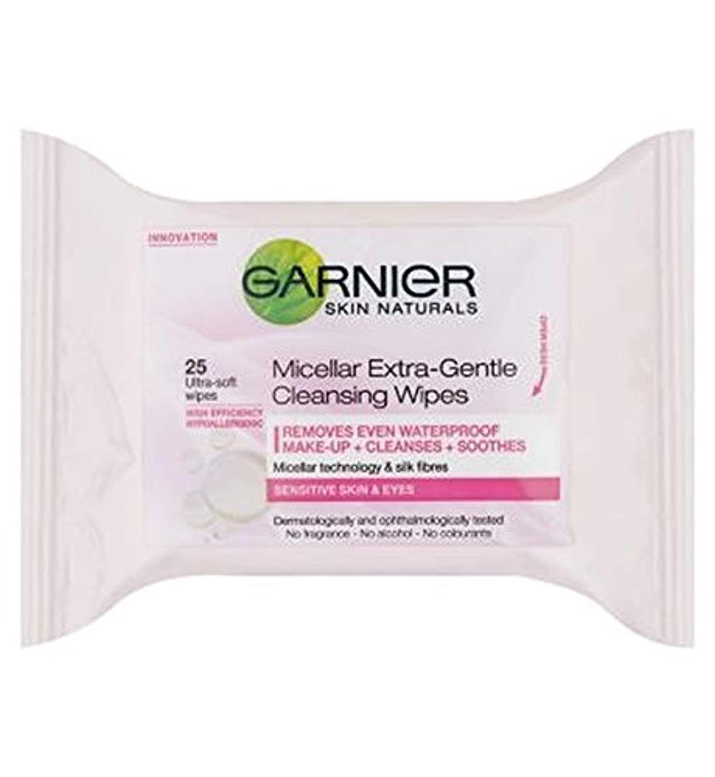 持参滅びる実験ガルニエミセルエクストラジェントルクレンジングは、25秒をワイプ (Garnier) (x2) - Garnier Micellar Extra-Gentle Cleansing Wipes 25s (Pack of 2...