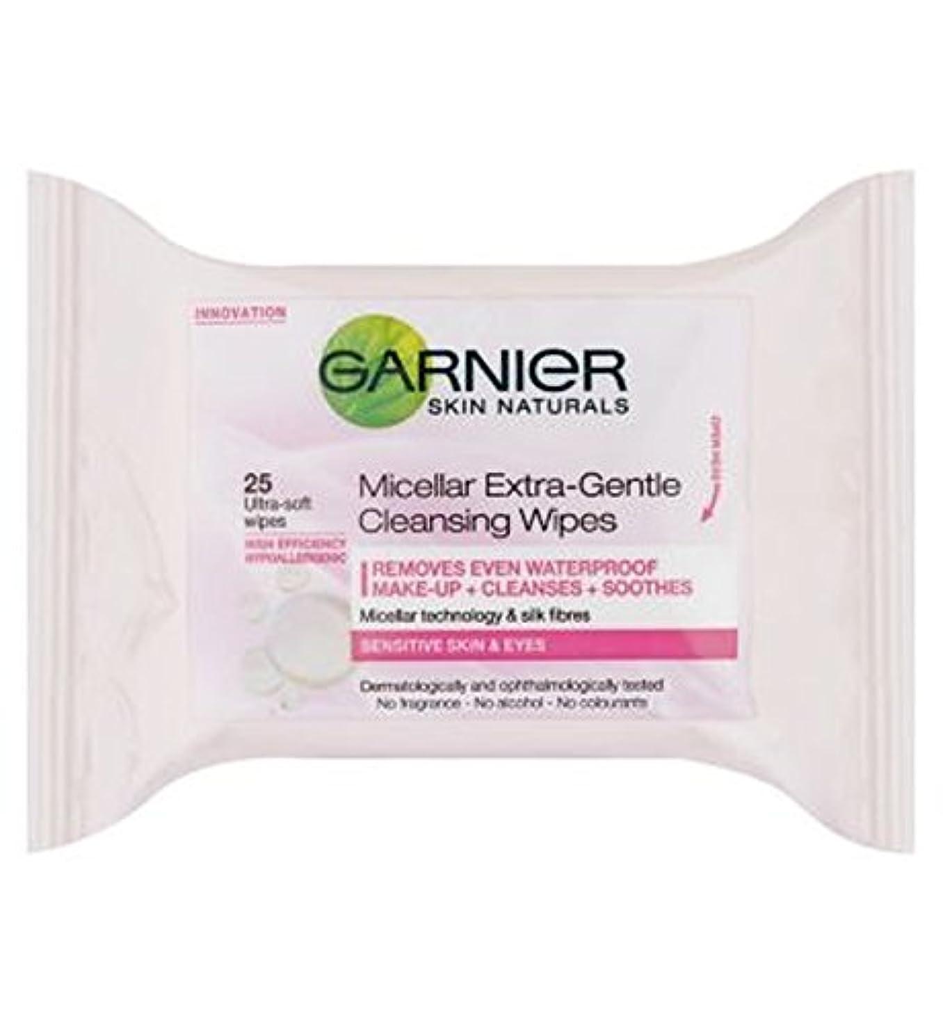 争う削減作り上げるGarnier Micellar Extra-Gentle Cleansing Wipes 25s - ガルニエミセルエクストラジェントルクレンジングは、25秒をワイプ (Garnier) [並行輸入品]