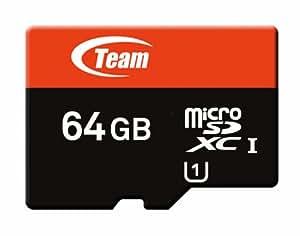 Team Micro SDXCカード UHS-1 40MB/sec (64GB) カード変換アダプター付き