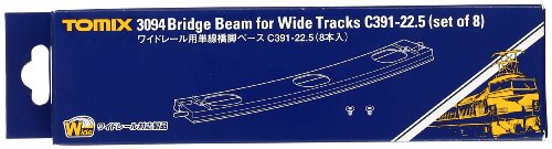 TOMIX Nゲージ 3094 ワイドレール用単線橋脚ベースC391-22.5 (8本入)