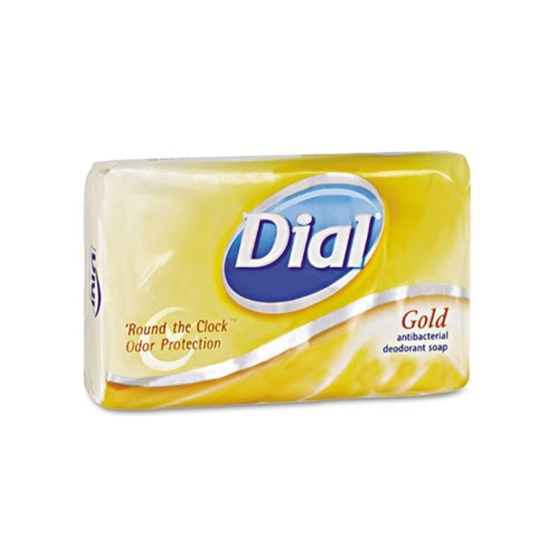 適応膨らませる前提条件ダイヤル& # xFFFD ;抗菌Deodorant Bar Soap、個別包装、ゴールド、4オンス