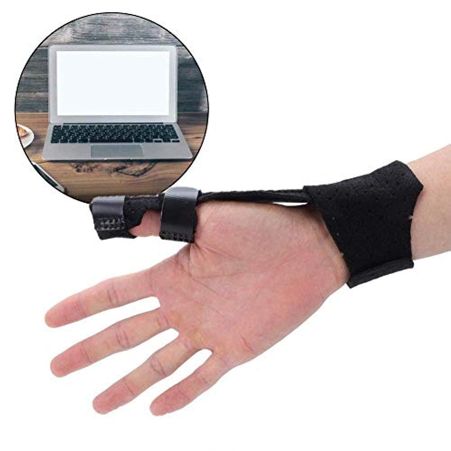 着陸シート保持する指の怪我のサポート、指の保護スプリントプロテクターの親指のサポートは柔らかく快適で、曲げの腫れや痛みを和らげます