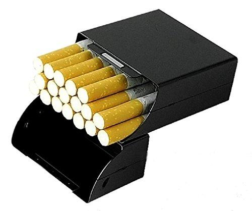 ソフトとハード 煙草入れ メタルシガレットケース マグネット誘導アルミシガレットパッケージ ブラック...
