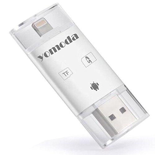 YOMODA カードリーダー iOS・PC対応 トレイルカメラ用SDカードリ...