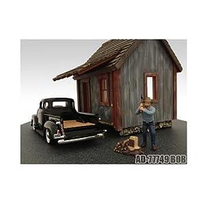 1/24 American Diorama Logger - Bob 男性 伐採者 きこり フィギュア 模型