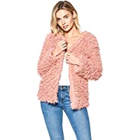 Hollywood Star Fashion Long Sleeve Faux Fur Coat Jacket