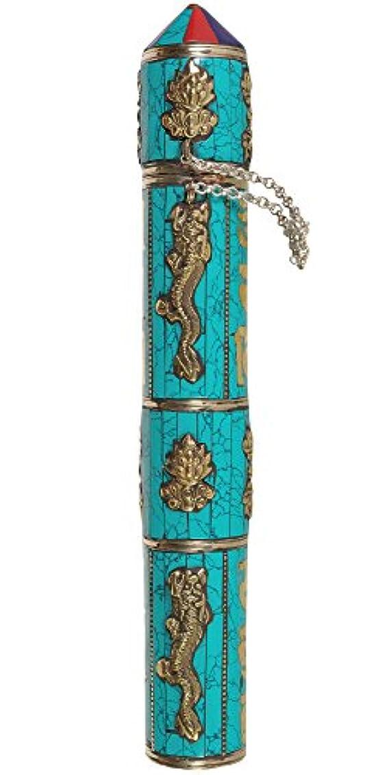 ちょうつがいディスク示すエキゾチックインディアzce22 LargeサイズTibetan Buddhist Incense Sticksホルダー