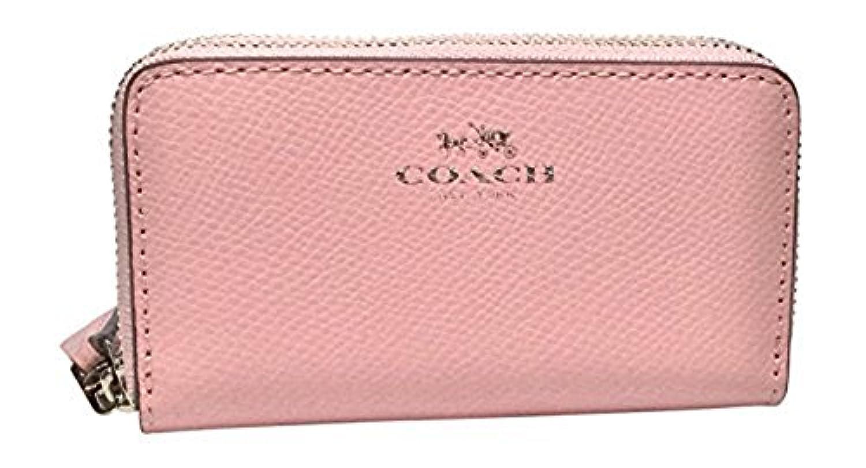(コーチ) COACH Signature Double Zip Cross-Grain レディーズ 小銭入れ ケース ケース 財布 Ladies Coin purse Wallet in Petal [並行輸入品]