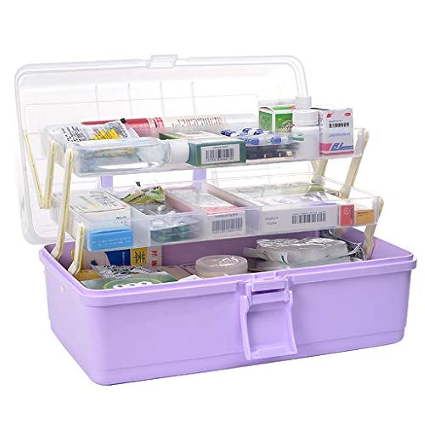 誰がオンネコKTYXDE 救急箱33x17.5x18cmから薬箱家多層特大薬品収納ボックス 薬収納ボックス