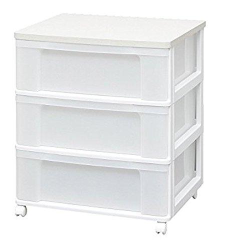 RoomClip商品情報 - アイリスオーヤマ チェスト 木天板 3段 幅63.2cm×奥行50.7×高さ73cm ホワイト W653P