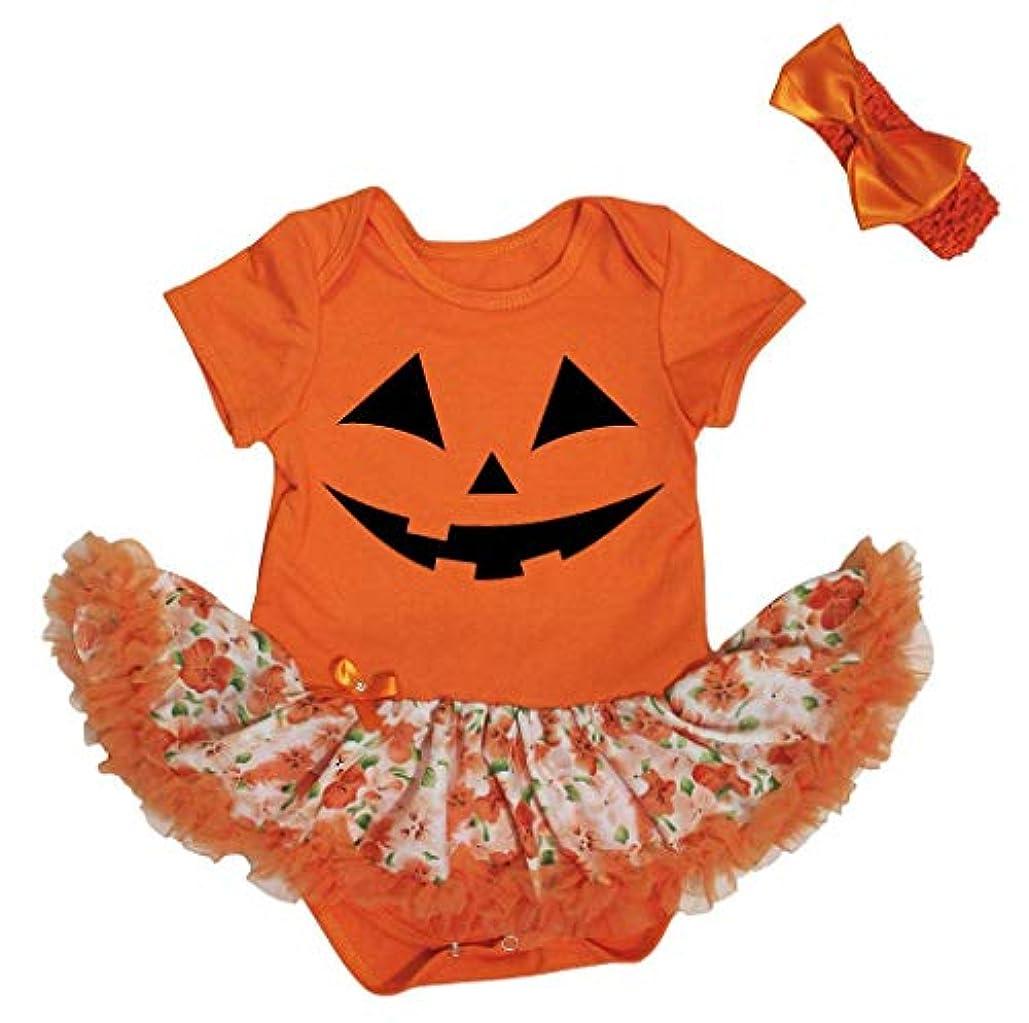 郊外昆虫スラム街[キッズコーナー] ハロウィン カボチャの顔 オレンジ ボディスーツ ドレス ベビー服 子供チュチュ Nb-18m (オレンジ, X-large) [並行輸入品]