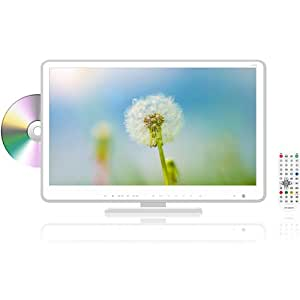 リアルライフジャパン 18.5型 地上デジタル DVDプレーヤー内蔵フルハイビジョン LED液晶テレビ(ホワイト) HP-185DTVWH