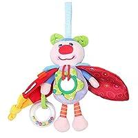 1st market クリエイティブかわいい赤ちゃんぬいぐるみ昆虫人形ペンダント多機能ベビーカーベッドぶら下げおもちゃ
