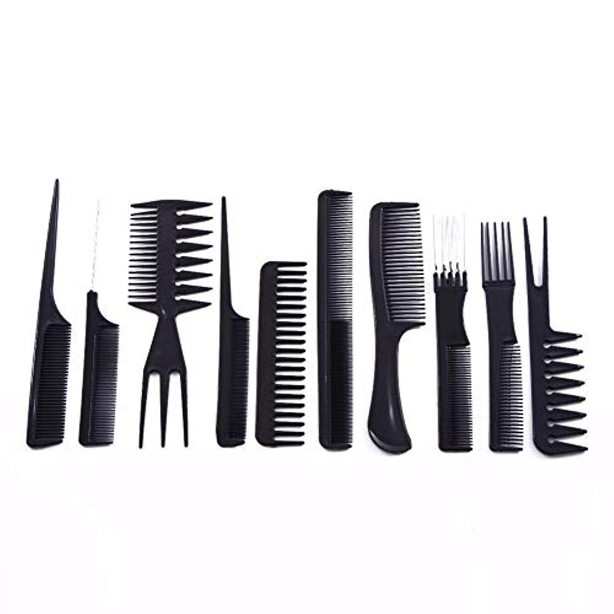 一時停止生物学プレゼント10ピース/セットプロのヘアブラシ櫛サロン理容帯電防止ヘアコームヘアケアスタイリングツール用すべての髪タイプ