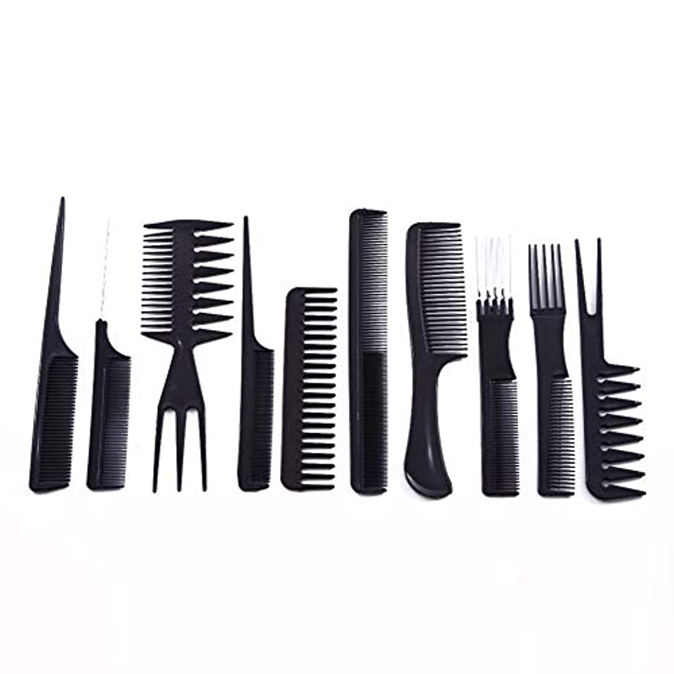 盲目出費オープニング10ピース/セットプロのヘアブラシ櫛サロン理容帯電防止ヘアコームヘアケアスタイリングツール用すべての髪タイプ