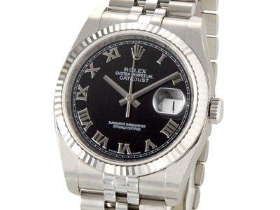 ロレックス メンズ腕時計 デイトジャスト 116234BKR...
