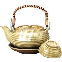 マルヨシ陶器 土瓶むしセット 丸形イラボ M2224