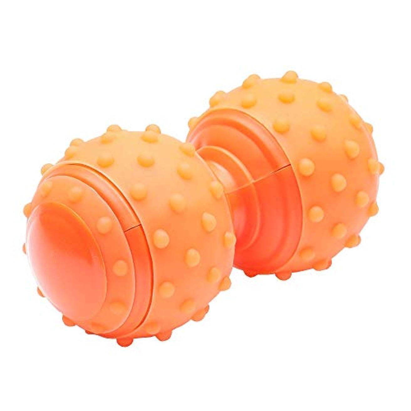 フルートドックトーストMitasakaIs マッサージボール トリガーポイント 筋膜リリース 肩 肩甲骨 背中 ストレッチ ボール ツボ押し オレンジ